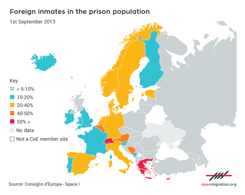 Foreign inmates in the prison population