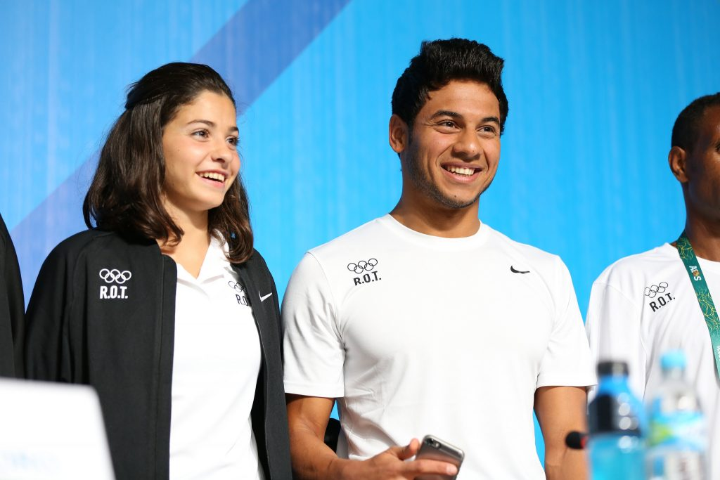 Yusra Mardini e Rami Anis - via Andy Miah/Flickr Creative Commons.