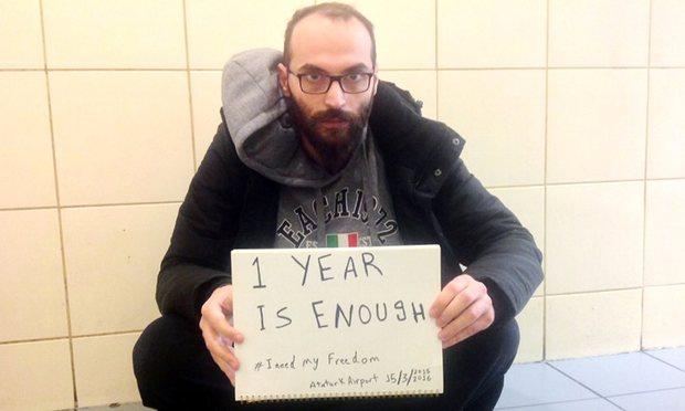 Sul suo account Twitter Fadi Mansour chiede di essere rilasciato. (Foto: Fadi Mansour)