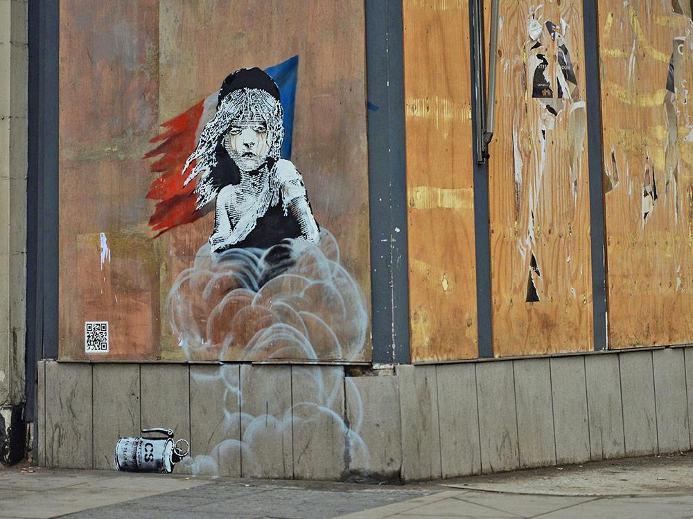 FOTO: Banksy's Calais Murales (via Banksy website)