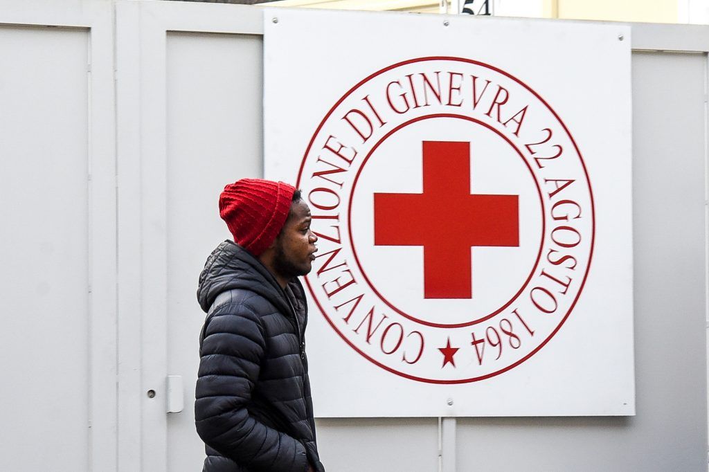 IMAGE: Como, a migrant reception centre run by the Red Cross in San Rocco.