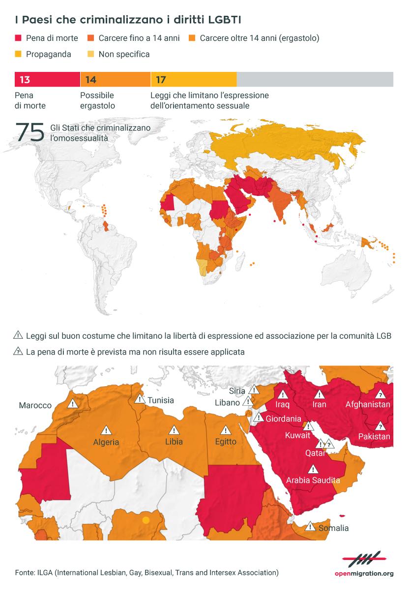 I paesi che criminalizzano i diritti LGBTI