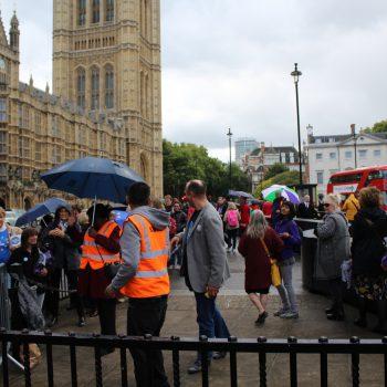 Esponenti dei 3Million si preparano ad incontrare membri del Parlamento a Westminster per esporre le loro istanze, durante il Citizens Rally del 13 settembre 2017 (foto: Angelo Boccato)