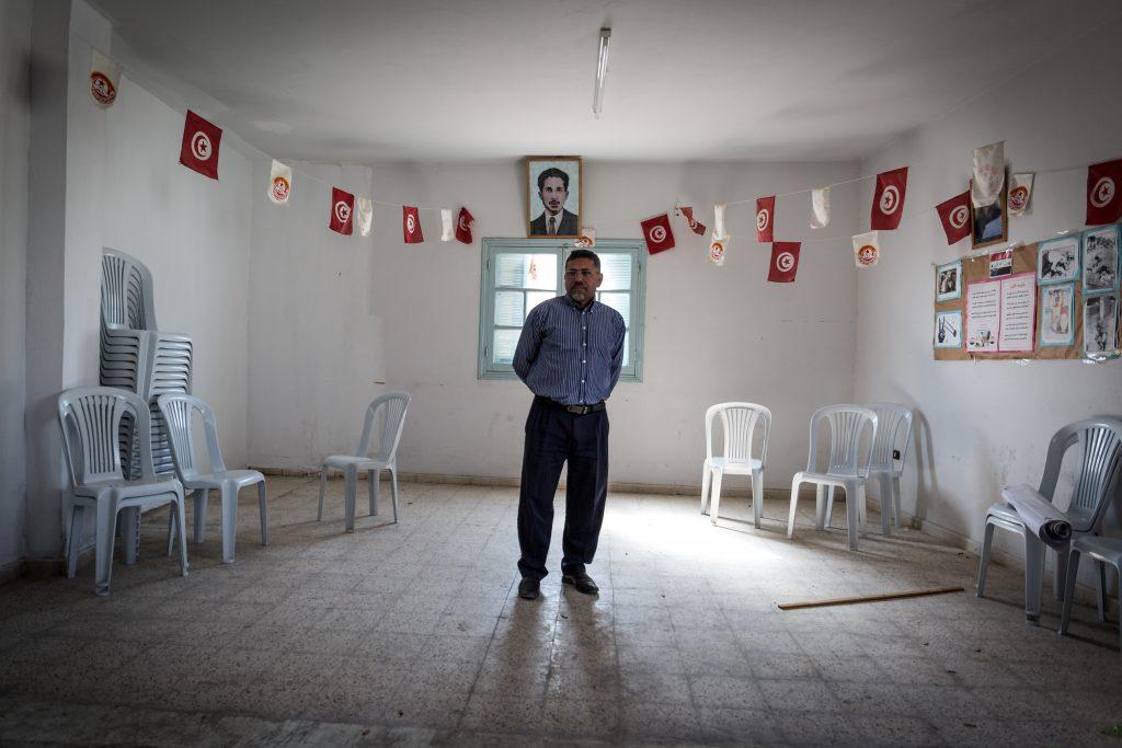 Habib El Tayef, presidente della sezione di Bir Ali Ben Khalifa del sindacato UGTT (Union Générale des travailleurs tunisiens (foto: Giulia Bertoluzzi)
