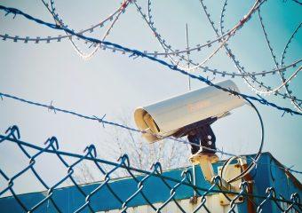 Video Camera Spy Recording Monitoring Barbed Wire