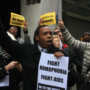 Protesta contro la criminalizzazione dell'omosessualità in Uganda (foto: Kaytee Riek su licenza CC BY-NC-SA 2.0)