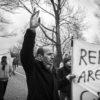 Protesters at Sjælsmark deportation camp  (foto: Monsun/Mark Knusen)