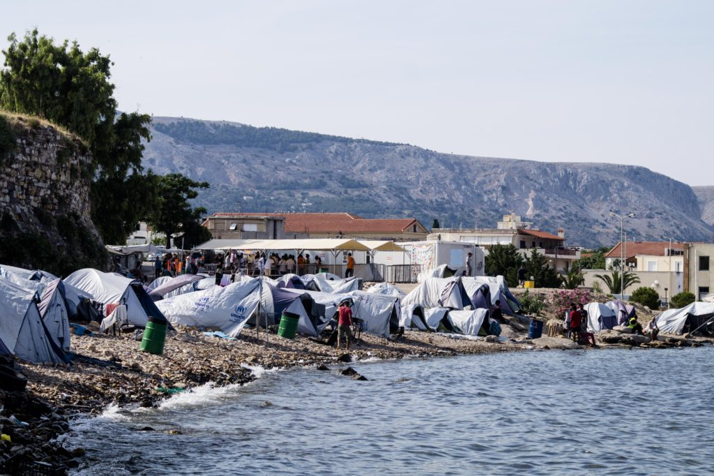 Refugee tents outside the overcrowded refugee camp of Souda in Chios – now closed - in June 2017 (photo: Marianna Karakoulaki).