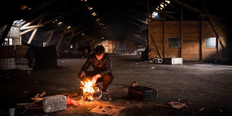 Campo informale di rifugiati a Belgrado (foto: Frode Bjorshol, su licenza CC BY 2.0)