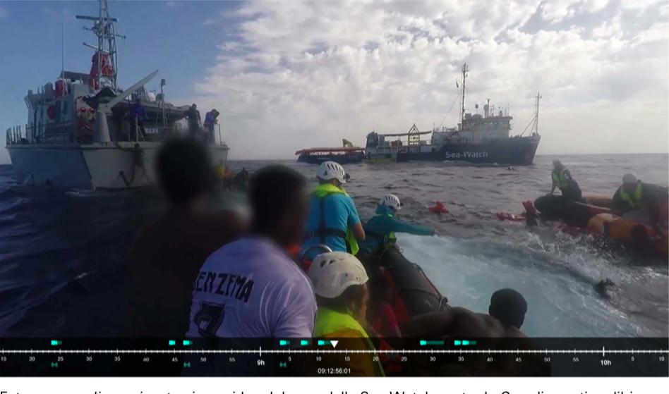 Un fotogramma dei video del 6 novembre 2017 utilizzati da Forensic Architecture per la ricostruzione dell'episodio