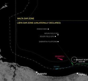 "Un fotogramma dal report ""Mare Clausum"" di Forensic Oceanography"