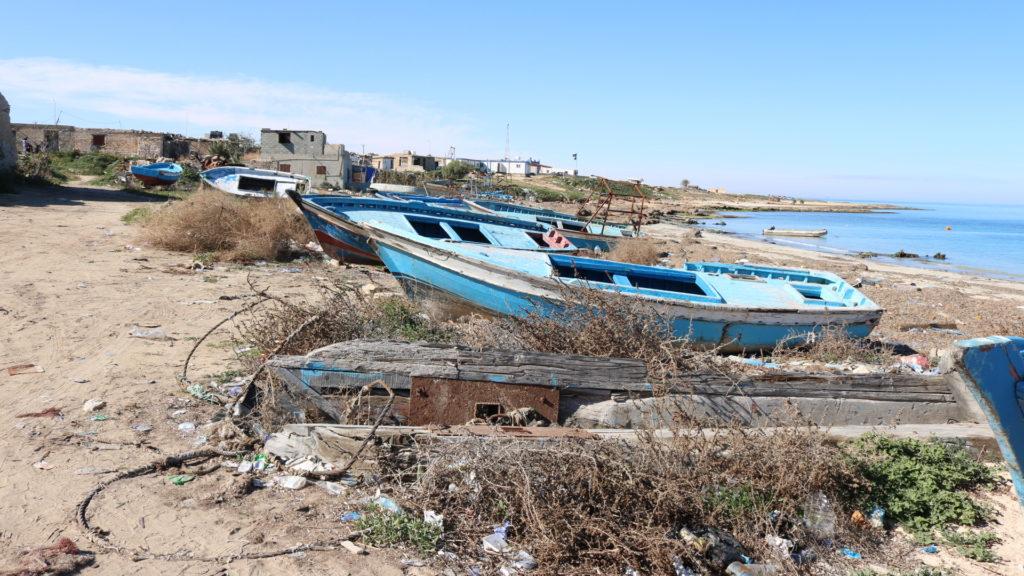 Porticciolo di Sabrata - uno dei punti di partenza dei barconi di migranti verso l'Europa (foto: Nancy Porsia)