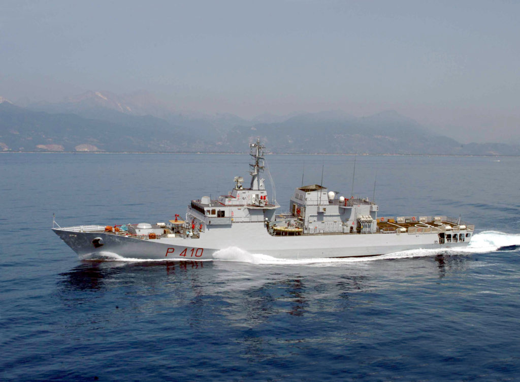 La nave Orione della Marina Militare italiana.