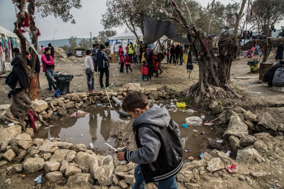Moria refugee camp, the external part (photo credit Federica Mameli)