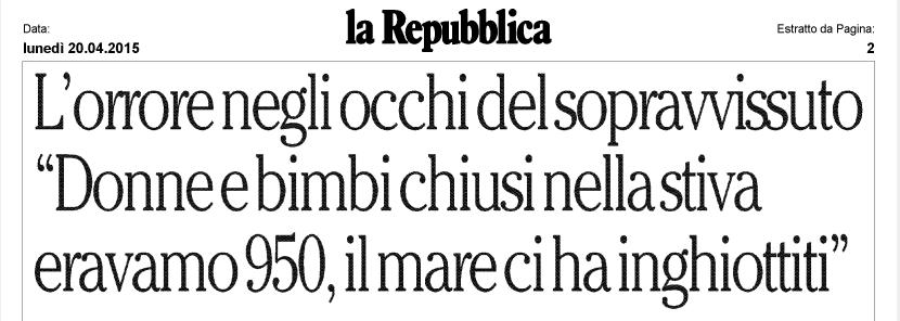 Repubblica, 20 aprile 2015