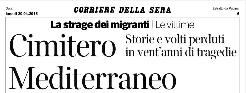 Corriere della Sera, 20 aprile 2015