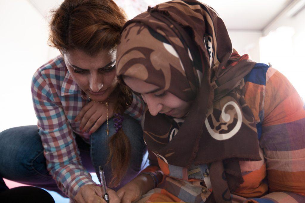 Campo per sfollati di Harsham, Erbil, Iraq - dove Rasha lavora insieme a Terres des Hommes - FOTO: Arianna Pagani.