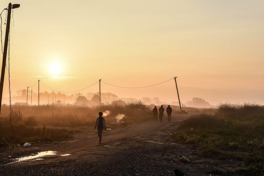 L'alba del giorno dopo a Calais. PH: Sara Prestianni.
