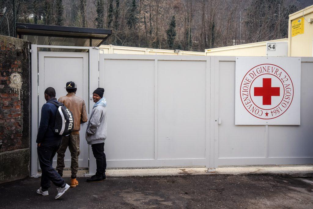 IMAGE: Como, a migrant reception centre run by the Red Cross in San Rocco.