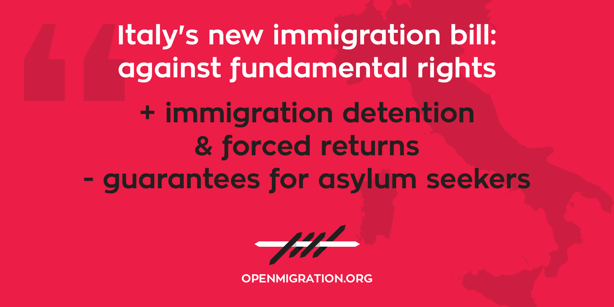 the new italian law on immigration is not good news ⁄ open migration