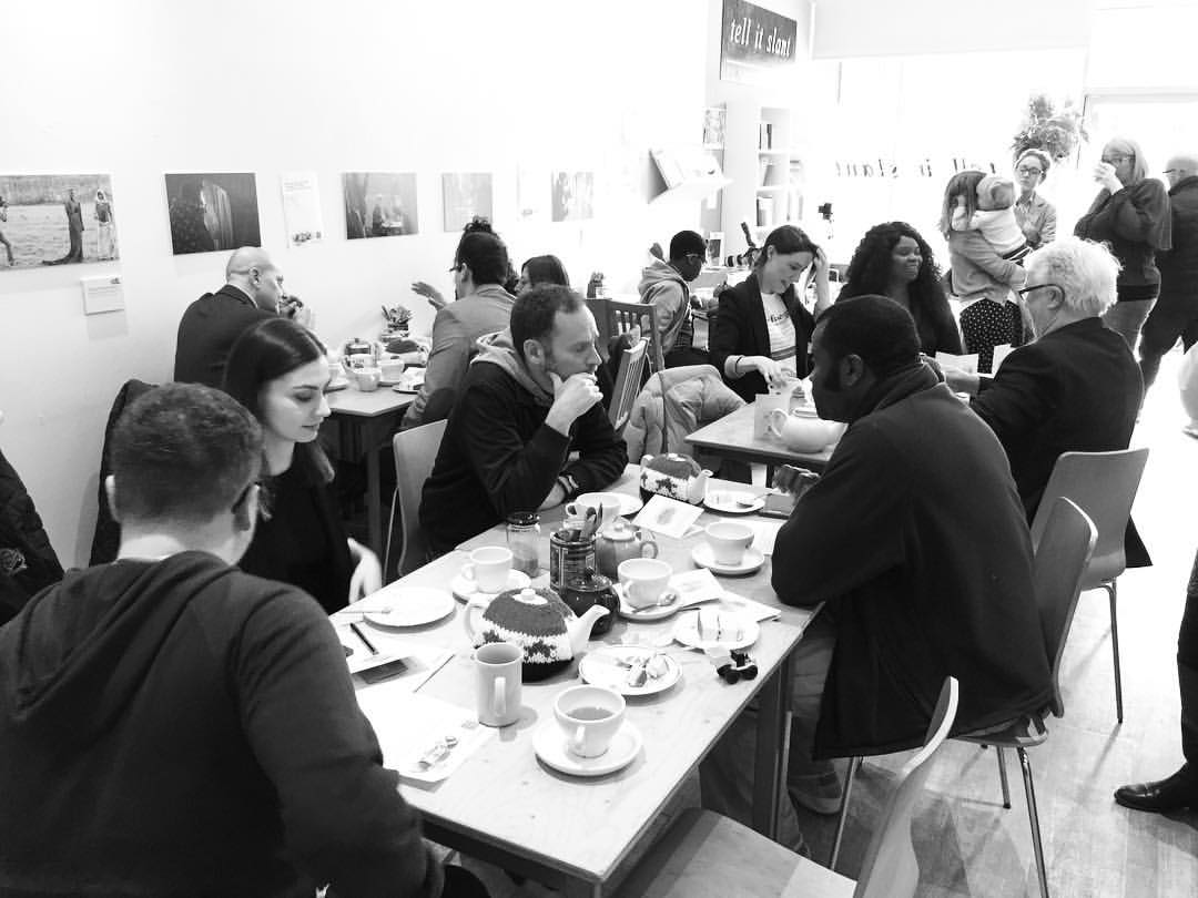 The Refugee Council's 'Tea with a Refugee' event at 'The Project Cafe' in Glasgow. (Photo: TheTech Dave)
