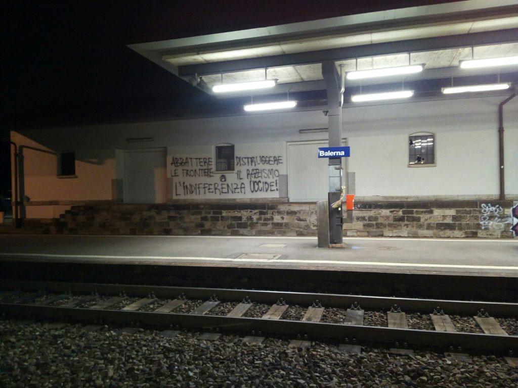 Alla stazione di Balerna, in Canton Ticino (foto: Michele Luppi)
