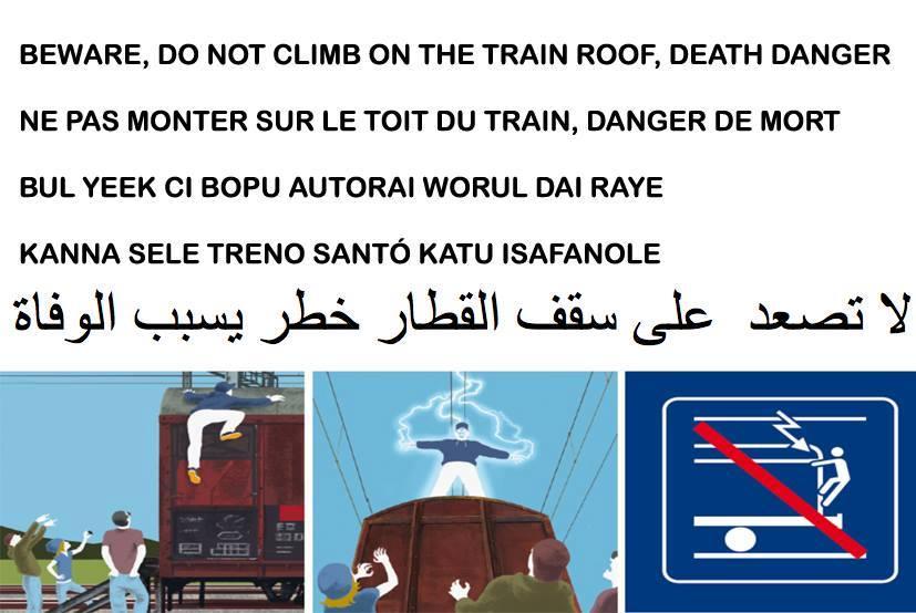 Il volantino dell'Osservatorio Migranti di Como per avvisare dei pericoli negli attraversamenti.
