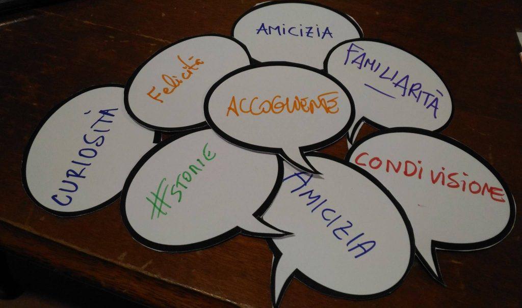 Le parole d'ordine della biblioteca. Foto via Cittadini del Mondo.