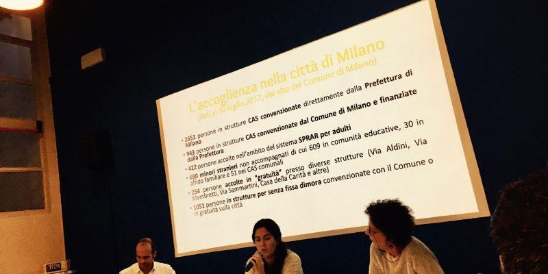 La presentazione del rapporto 2017 sull'accoglienza a Milano e provincia nella sede del Naga (foto: Marina Petrillo)