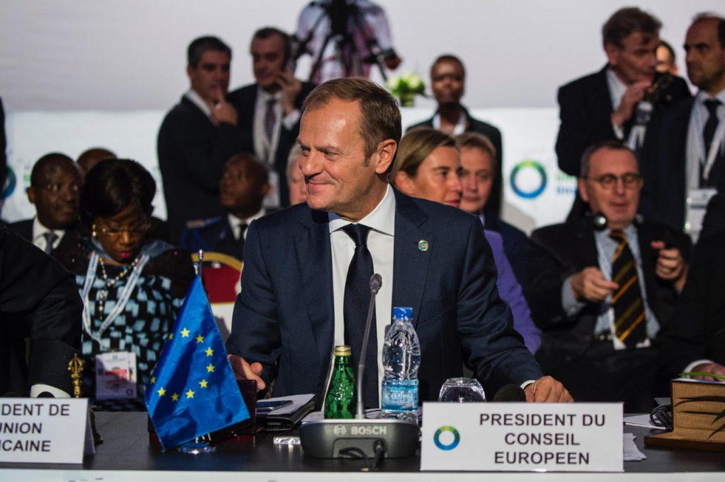 Il Presidente del Consiglio Europeo Donald Tusk al vertice fra Unione Africana e Unione Europea ad Abidjan il 29 novembre 2017 (Foto: Dominick Reuter/AFP Services for the European Council)