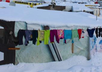 refugees under the snow - via European Commission DG Echo