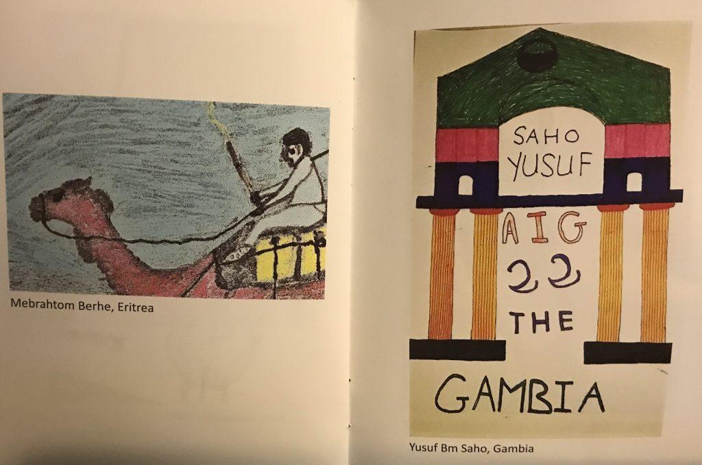 """disegno fatto da Yusuf al centro d'accoglienza di Casale San Nicola, fa parte del progetto """"Aiwa - la nostra Africa"""" a cura di Daniela Morandini"""