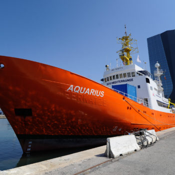 Aquarius docked