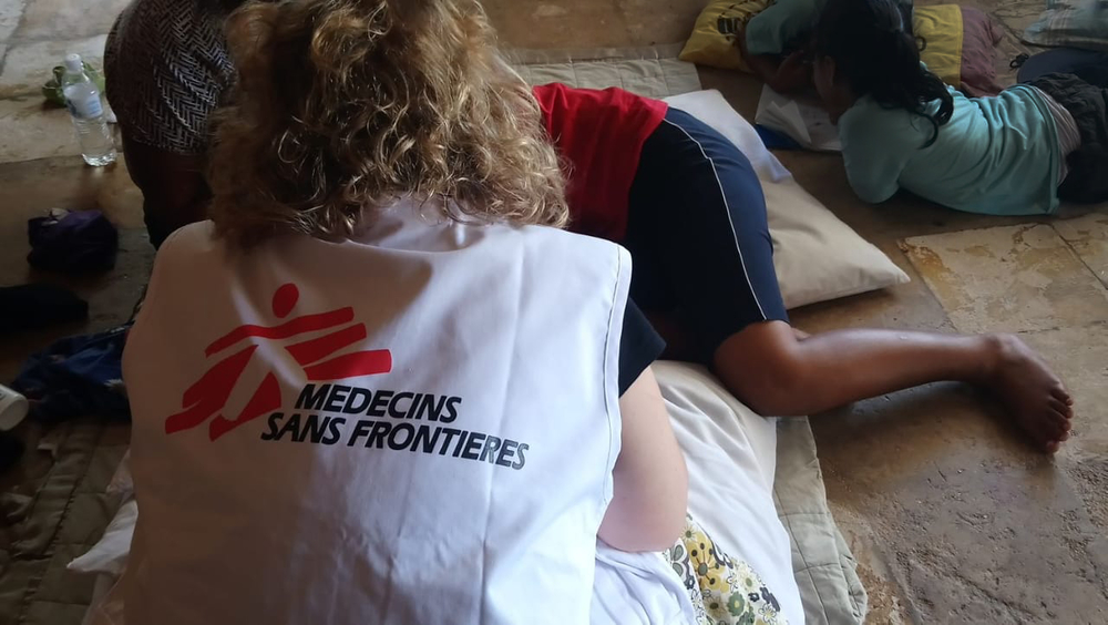 A patient is attended by MSF's mental health team in Nauru