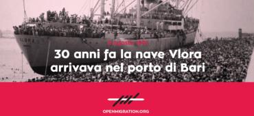 Memorie di una città: 30 anni fa la nave Vlora sbarcava a Bari
